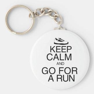 Keep Calm and Go For A Run Keychain