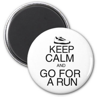 Keep Calm and Go For A Run Magnet