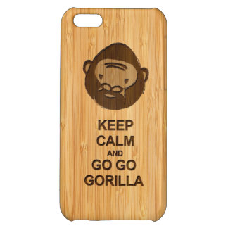 Keep Calm and Go Go Gorilla in Bamboo Look iPhone 5C Cover