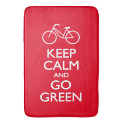 Large Bath Mat with Keep Calm and Go Green design