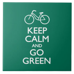 Large Tile (6' X 6') with Keep Calm and Go Green design