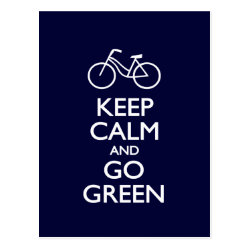 Postcard with Keep Calm and Go Green design