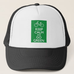 Trucker Hat with Keep Calm and Go Green design