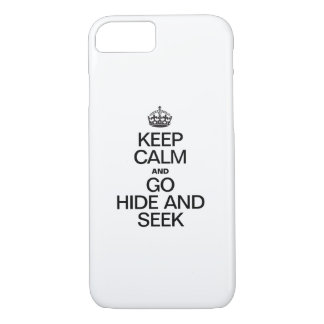 KEEP CALM AND GO HIDE AND SEEK iPhone 8/7 CASE