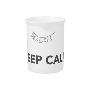 KEEP CALM AND GO HORSE DRINK PITCHER