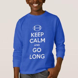 KEEP CALM AND GO LONG - football/nfl/superbowl T-Shirt