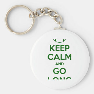 KEEP CALM AND GO LONG - football/sports/nfl Basic Round Button Keychain