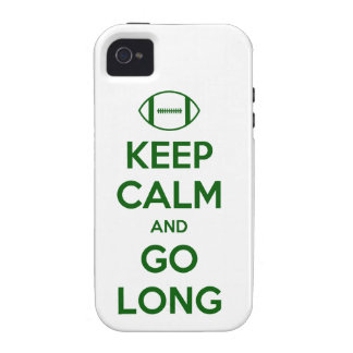 KEEP CALM AND GO LONG - football/sports/nfl Case-Mate iPhone 4 Case