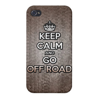 keep calm and go off road 4x4 quad dirtbike racing cover for iPhone 4