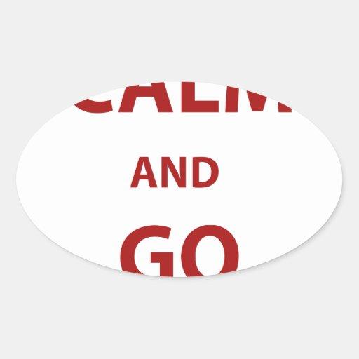 Keep Calm and Go Rangers Oval Sticker
