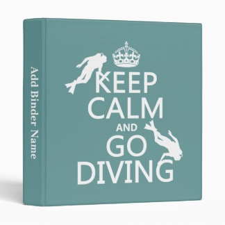 Keep Calm and Go (scuba) Diving (all colors) Binder