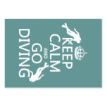 Keep Calm and Go (scuba) Diving (all colors) Large Business Cards (Pack Of 100)