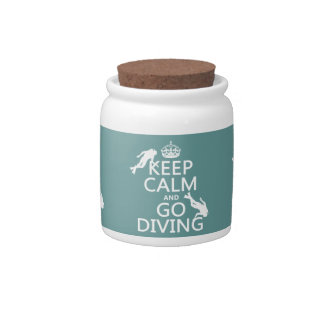 Keep Calm and Go (scuba) Diving (all colors) Candy Dish