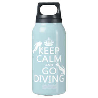 Keep Calm and Go (scuba) Diving (all colors) Insulated Water Bottle