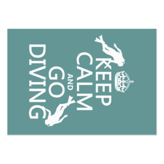 Keep Calm and Go (scuba) Diving (all colors) Large Business Card