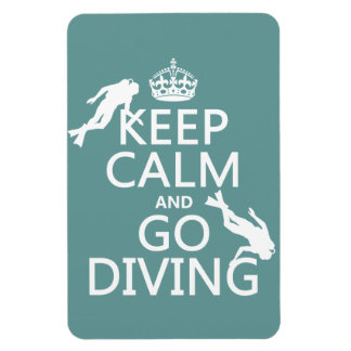Keep Calm and Go (scuba) Diving (all colors) Magnet