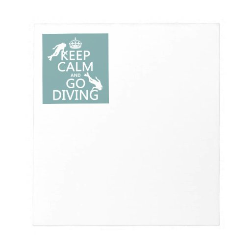 Keep Calm and Go (scuba) Diving (all colors) Memo Notepads