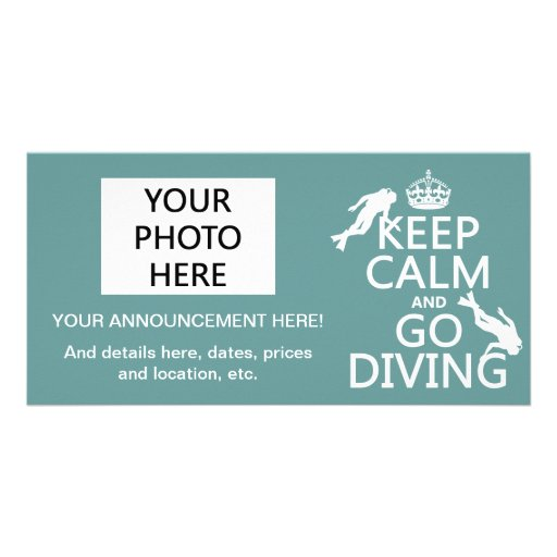 Keep Calm and Go (scuba) Diving (all colors) Picture Card