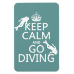 Keep Calm and Go (scuba) Diving (all colors) Rectangular Magnets