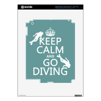 Keep Calm and Go (scuba) Diving (all colors) Skin For iPad 3