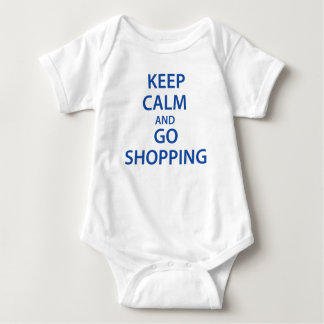 Keep Calm and Go Shopping! Baby Bodysuit