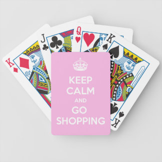 Keep Calm and Go Shopping Bicycle Playing Cards