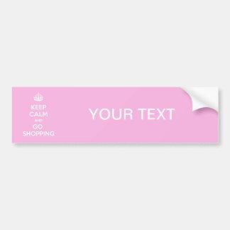 Keep Calm and Go Shopping Car Bumper Sticker