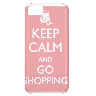 keep calm and go shopping iPhone 5C covers
