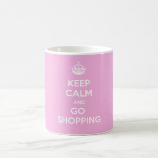 Keep Calm and Go Shopping Classic White Coffee Mug