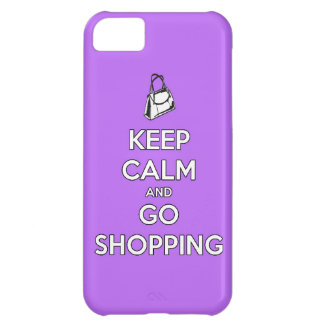 Keep calm and go shopping funny mall money spend s cover for iPhone 5C