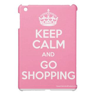 keep calm and go shopping ipad mini case
