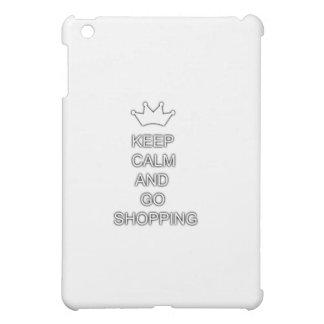 Keep calm and go shopping iPad mini covers