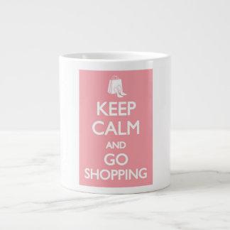 keep calm and go shopping mug jumbo mugs