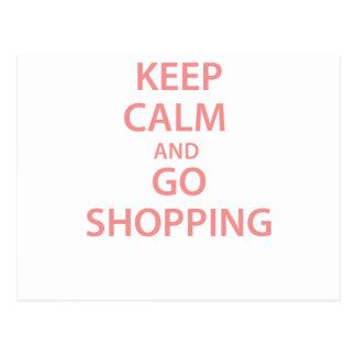 Keep Calm and Go Shopping! Postcard