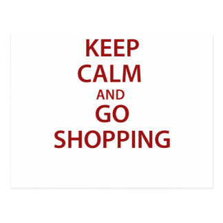 Keep Calm and Go Shopping Postcard