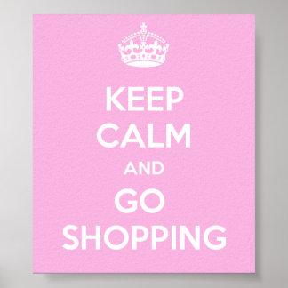 Keep Calm and Go Shopping Print