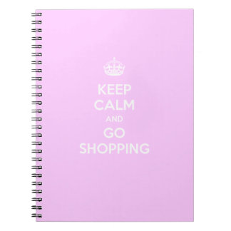 Keep Calm and Go Shopping Spiral Notebook