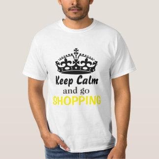 Keep calm and go shopping tee shirt