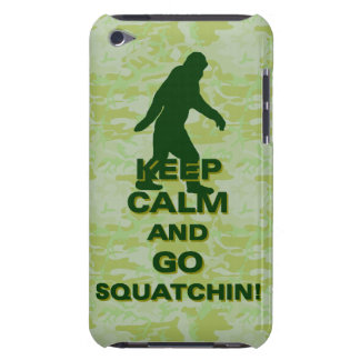 Keep calm and go squatchin barely there iPod cover