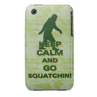 Keep calm and go squatchin iPhone 3 Case-Mate case