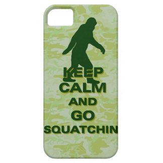 Keep calm and go squatchin iPhone SE/5/5s case