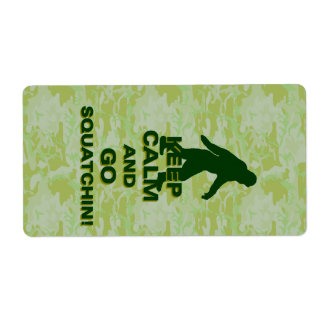Keep calm and go squatchin label