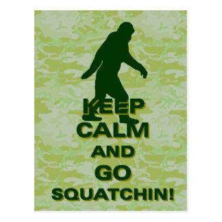 Keep calm and go squatchin postcard