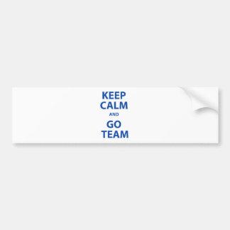 Keep Calm and Go Team Car Bumper Sticker