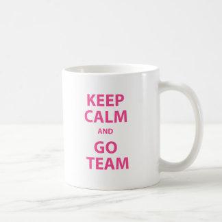 Keep Calm and Go Team Coffee Mug