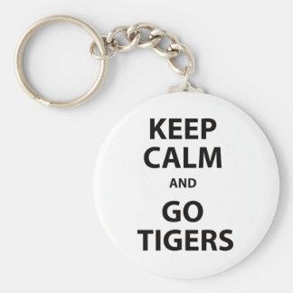 Keep Calm and Go Tigers Basic Round Button Keychain