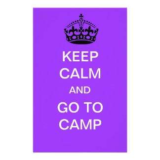 keep calm and go to camp stationery