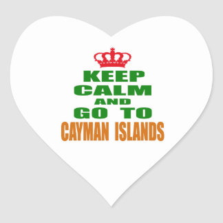 Keep calm and go to Cayman Islands Heart Sticker