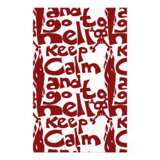 keep calm and go to hell stationery