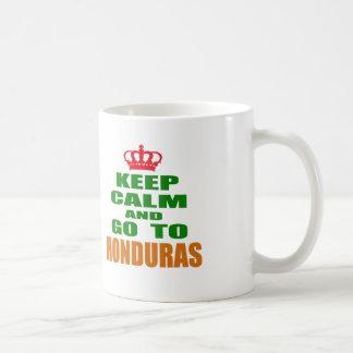 Keep calm and go to Honduras. Coffee Mug